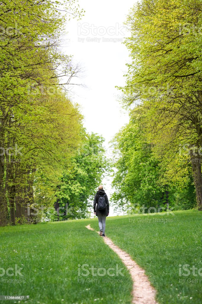 Green Footpath stock photo