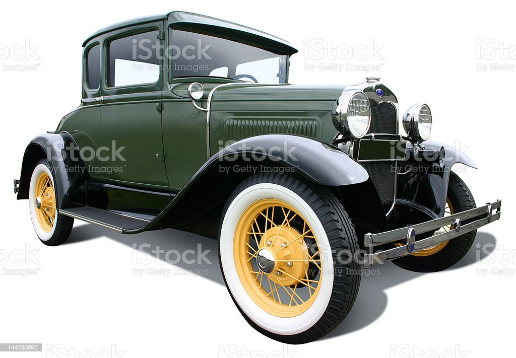 Green Ford Model A stock photo