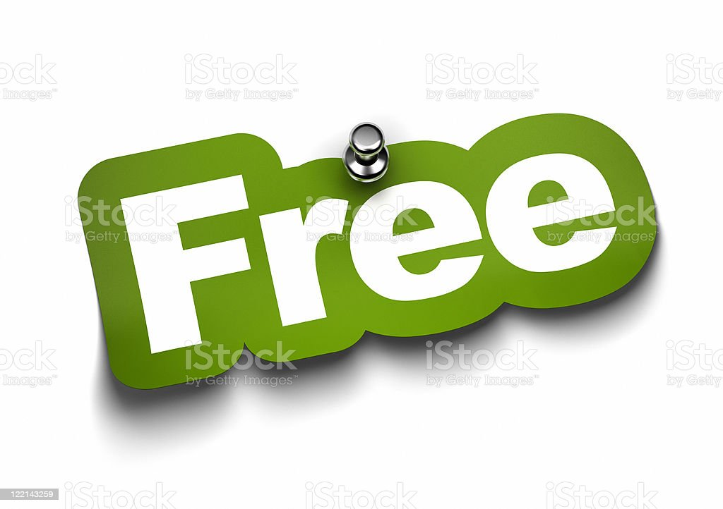 green free label over white royalty-free stock photo