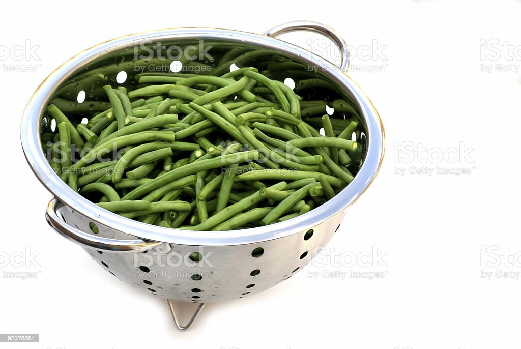 Green french beans. royalty-free stock photo