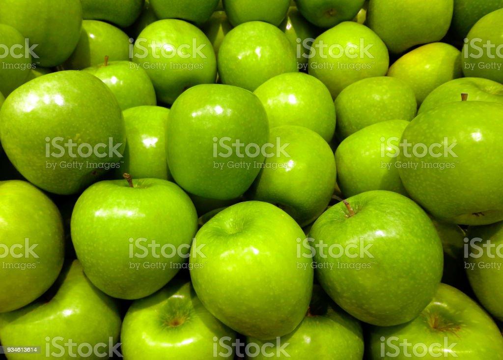 Green fresh apples stock photo