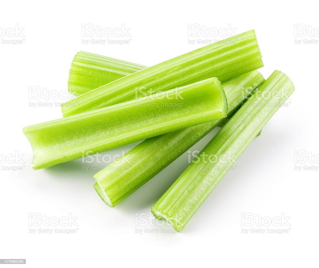 Verde fresca apio stick Aislado en blanco - foto de stock