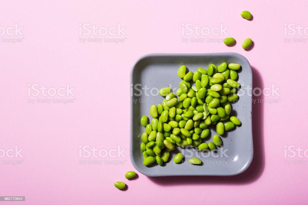 Green fresh soybeans - Foto stock royalty-free di Alimentazione sana