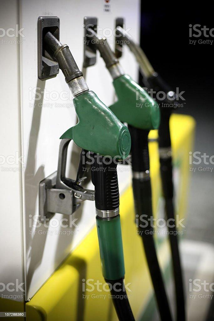 Green Fuel pump royalty-free stock photo