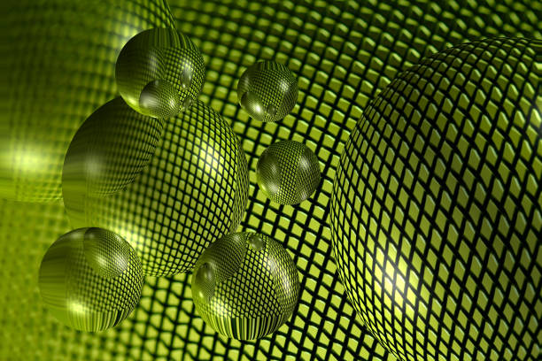 Grüne futuristische 3D-Kugeln grafischen Hintergrund – Foto