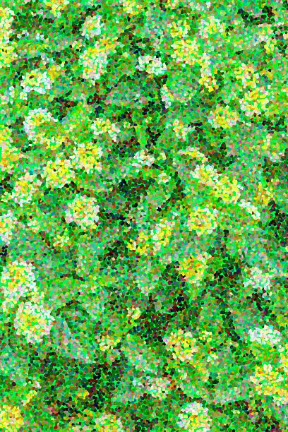 Green garden pointillism stock photo