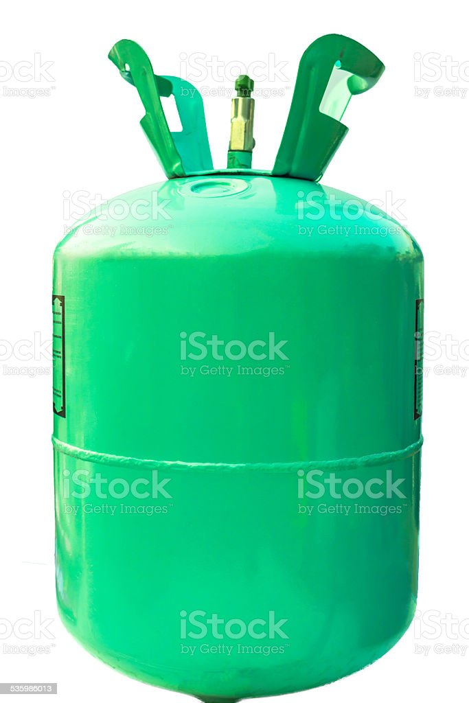 Green gas tank on isolated. stock photo