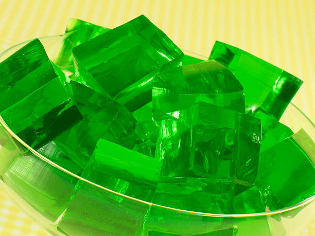 Green Gelatin  gelatin stock pictures, royalty-free photos & images