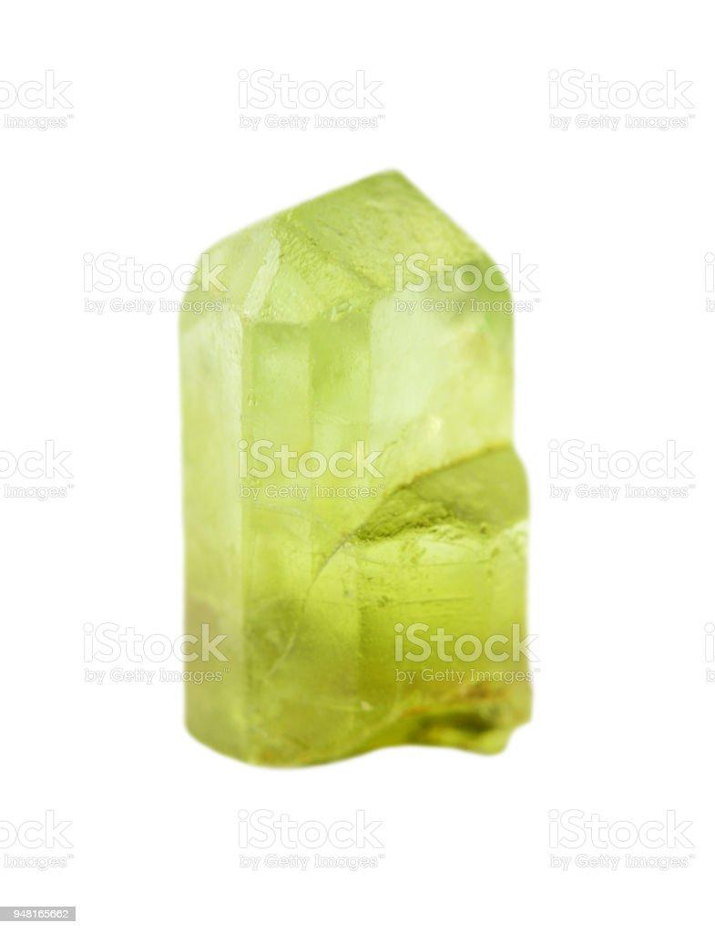 Green gemstone chrysolite stock photo