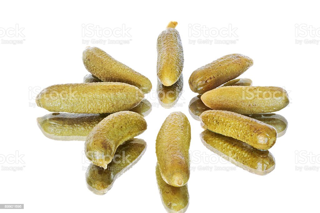 Green gherkins royalty-free stock photo