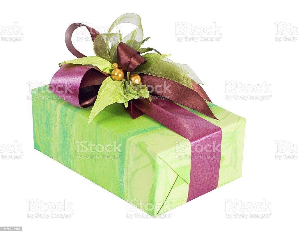 Green gift gox royalty-free stock photo