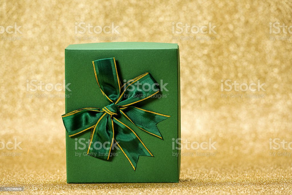 green gift royalty-free stock photo