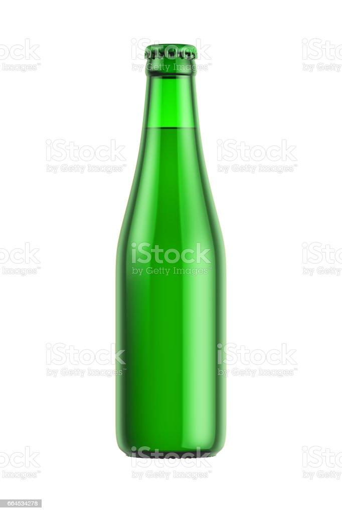 Green glass bottle royalty-free stock photo