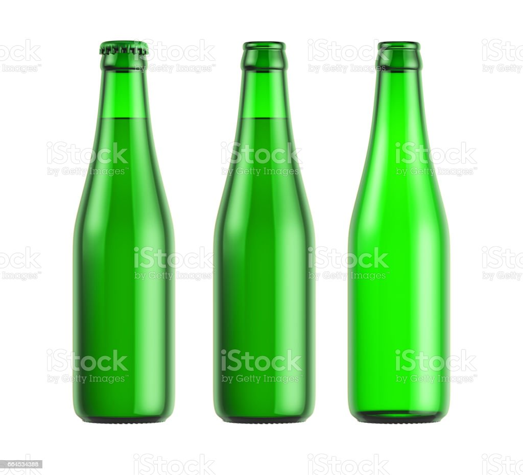 Green glass bottle royalty-free stock photo