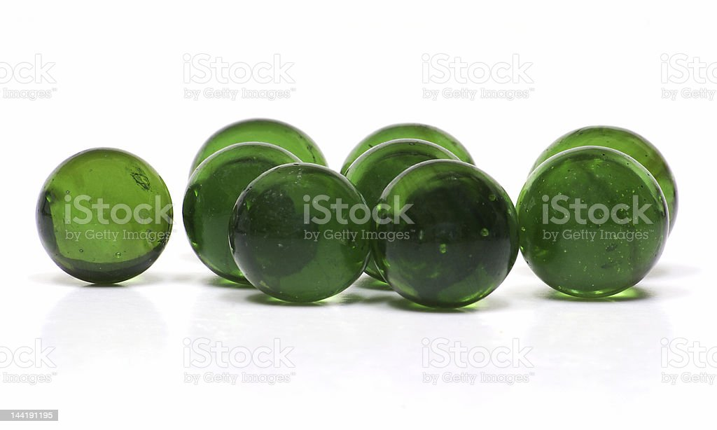 Green Glass Marbles royalty-free stock photo