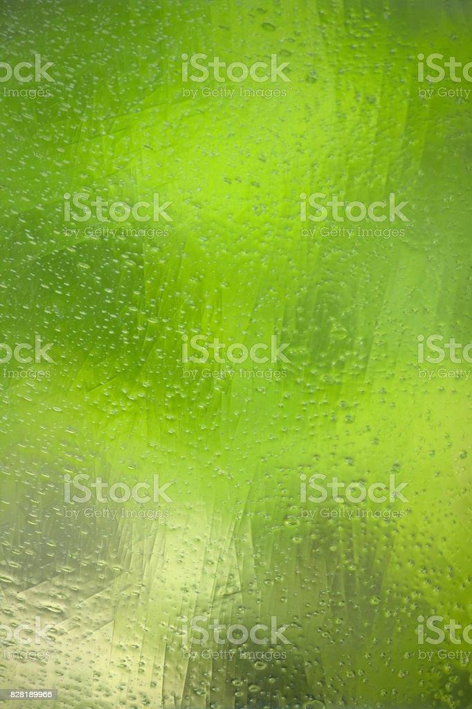 Green glass wavy background stock photo