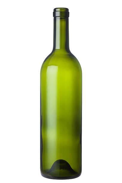 grünes glas wein flasche - recycelte weinflaschen stock-fotos und bilder