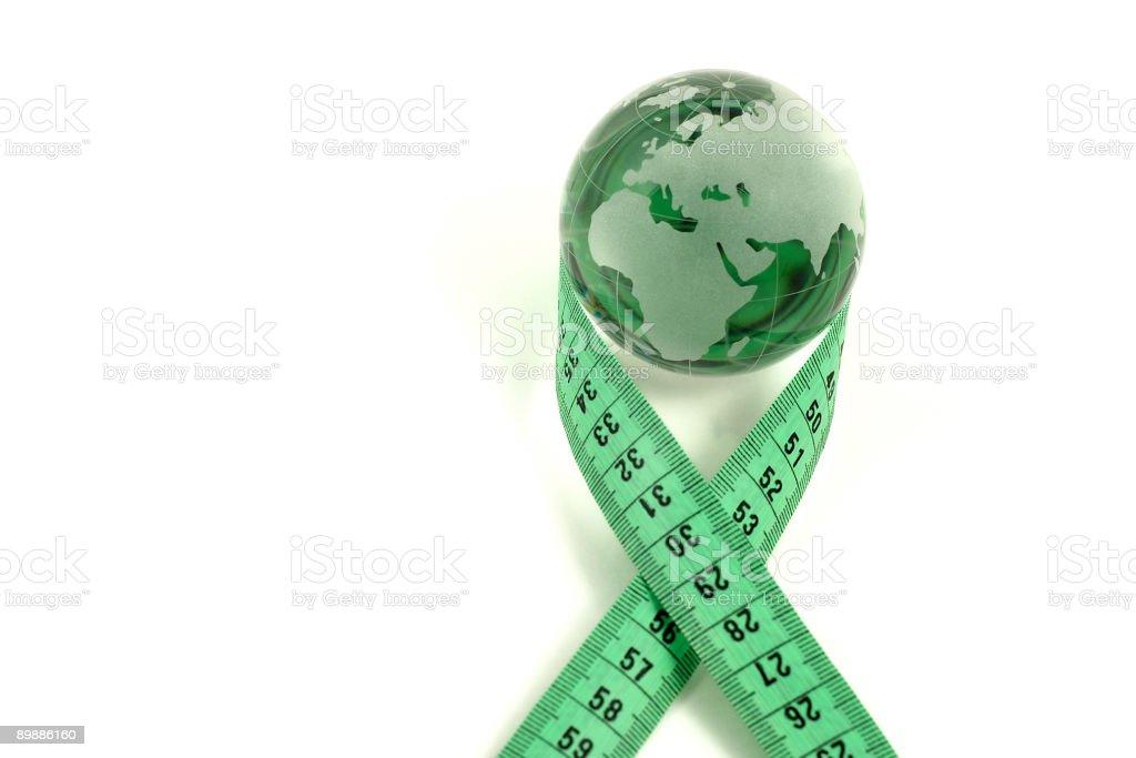 Green glass world royalty-free stock photo