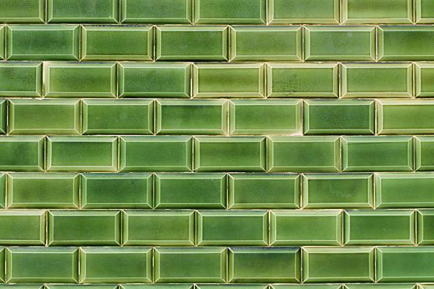Green glasierten Kacheln – Foto