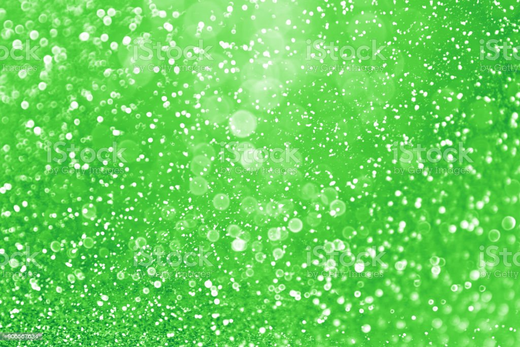 Green Glitter Lucky Irish St Patrick Day Background stock photo