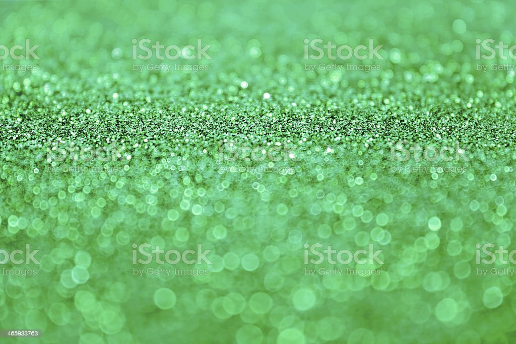 Green Glitter stock photo