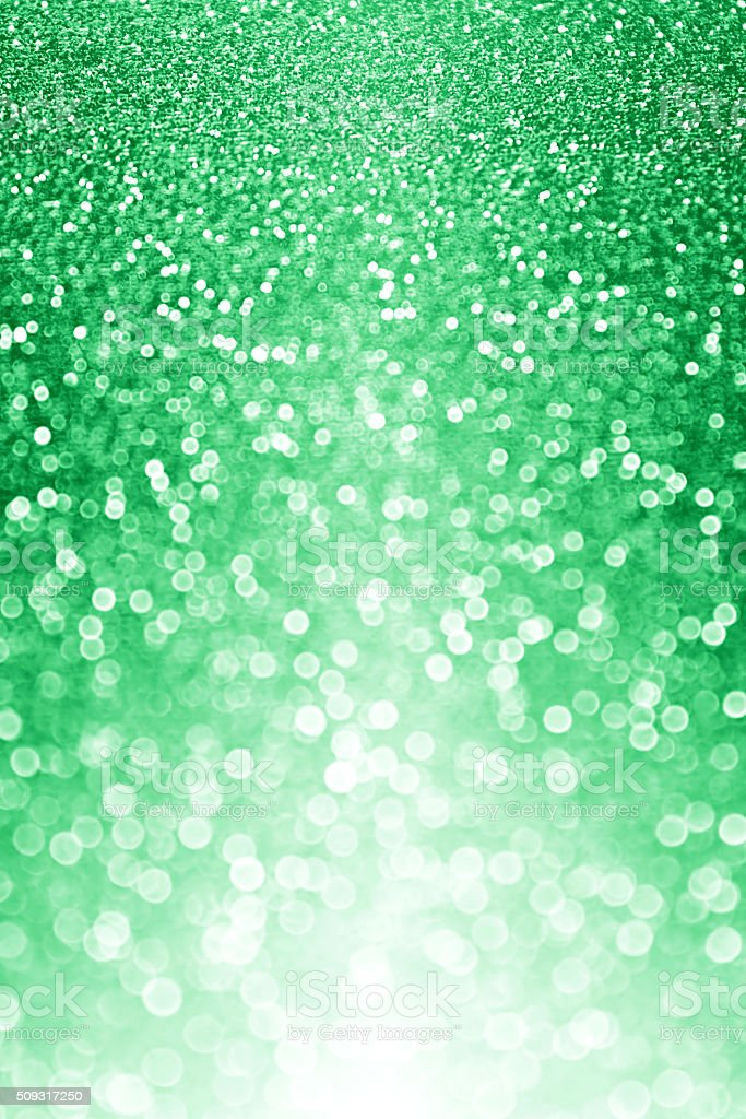 Green Glitter Sparkle Background stock photo