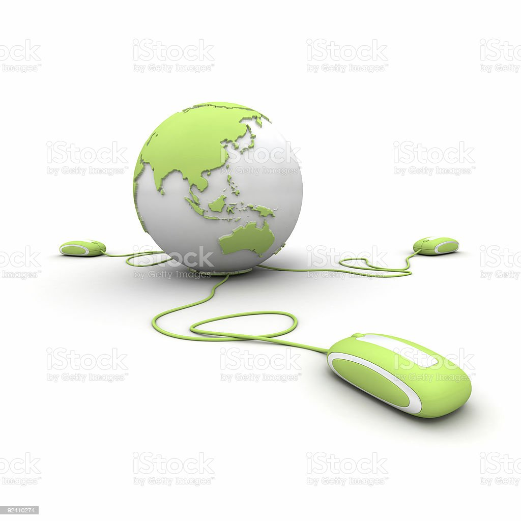 Green global communication royalty-free stock photo