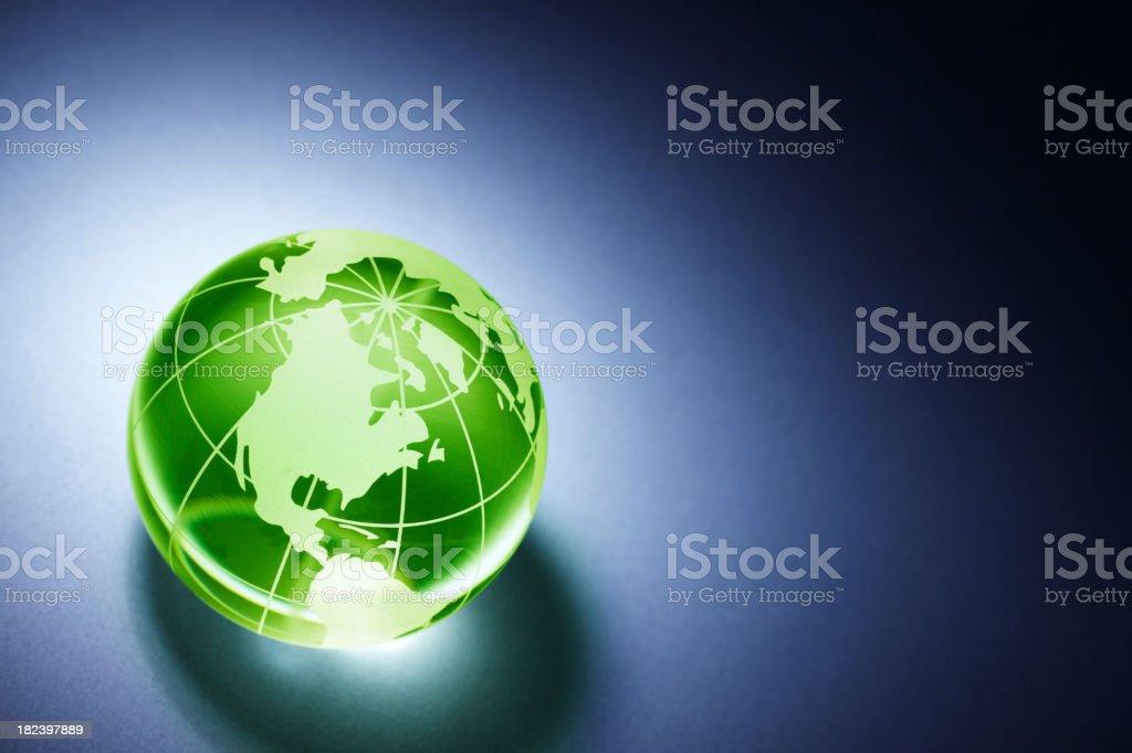 Green Globe royalty-free stock photo