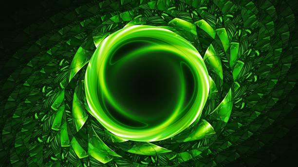 Grün glühende künstliche Wurmloch – Foto