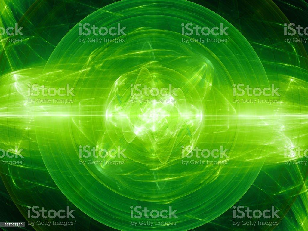 Verde brillante fusión con campo de fuerza de plasma - foto de stock
