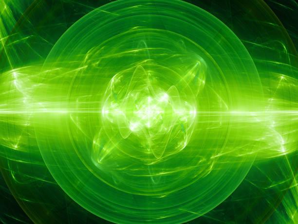 gröna glödande fusion med plasma kraftfält - teleport bildbanksfoton och bilder