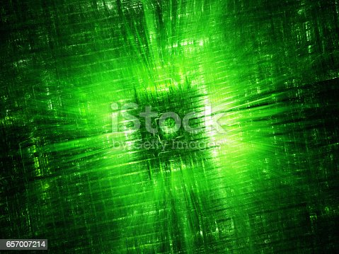 istock Green glowing hardware component fractal 657007214