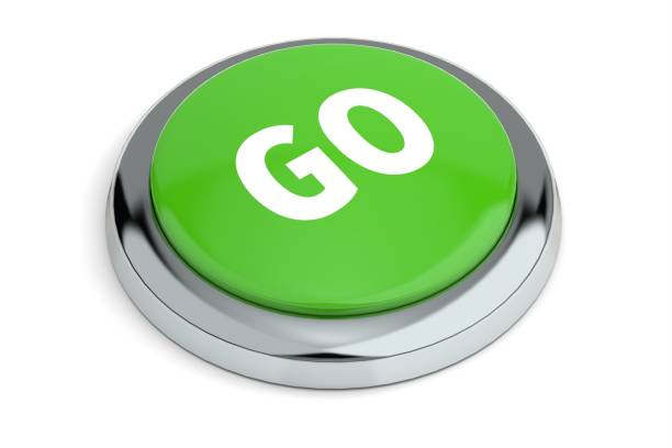 Green Go Button stock photo