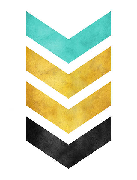 green gold and black chevron stock photo