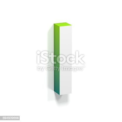 583978326 istock photo Green gradient and soft shadow letter I 594939556