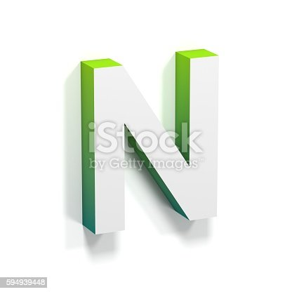 583978454istockphoto Green gradient and soft shadow letter N 594939448
