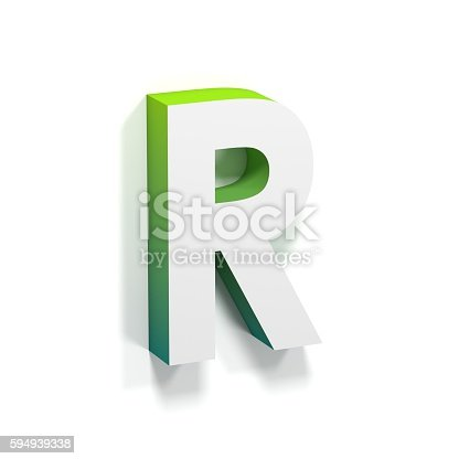 583978558istockphoto Green gradient and soft shadow letter R 594939338