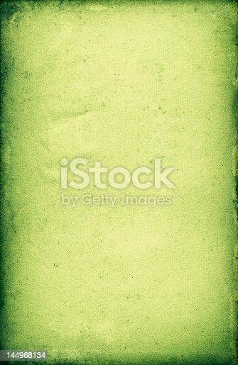 istock Green gradient border parchment paper 144968134