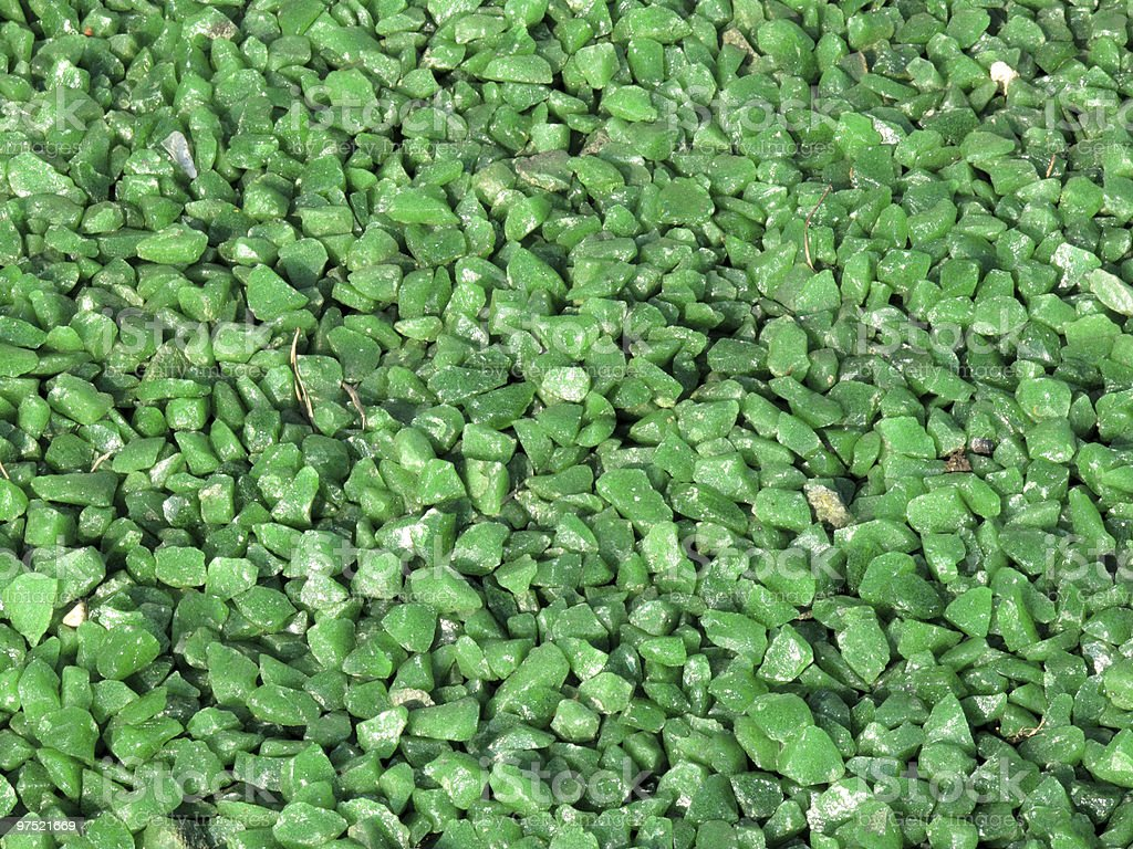 Green Granite Chippings Background royalty-free stock photo