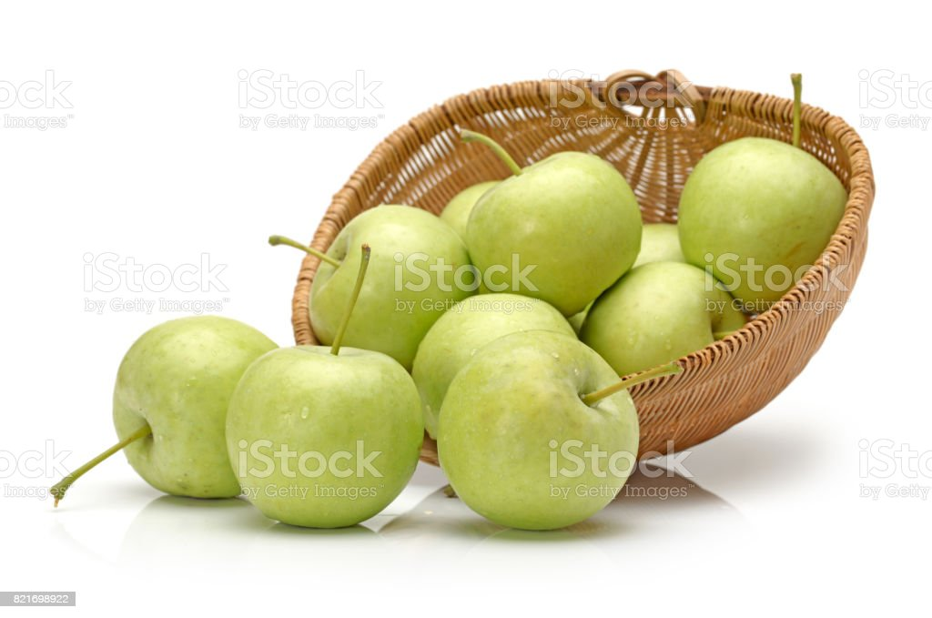 green Granny Smith Apple on white background stock photo