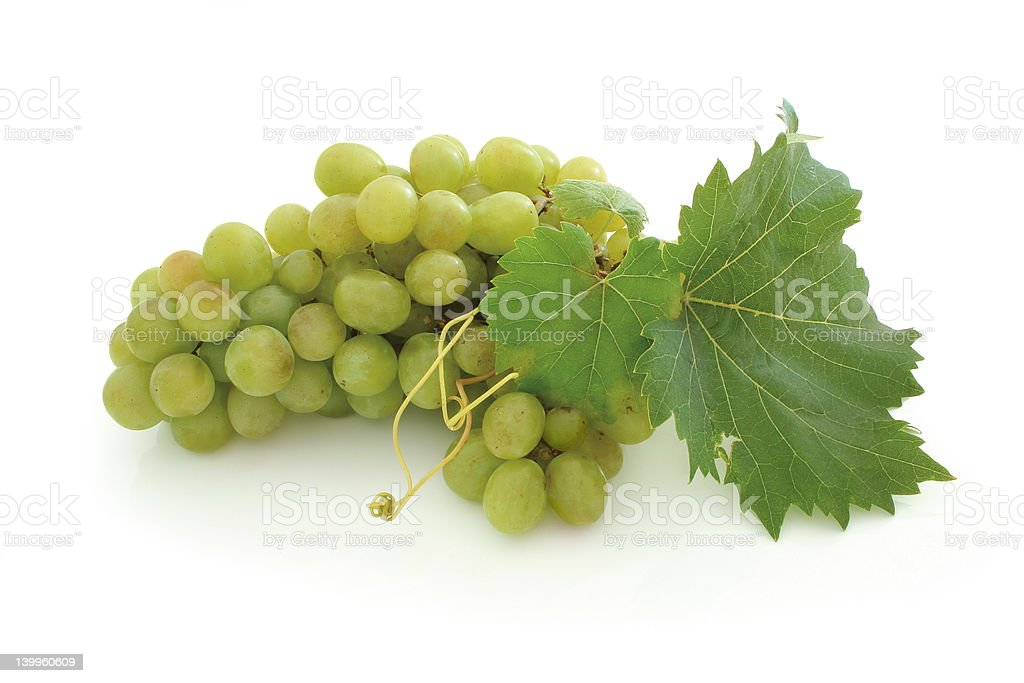 Green grape cluster royalty-free stock photo