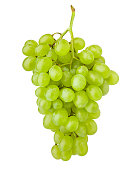 Green grape, isolated on white background, clipping path, full depth of field