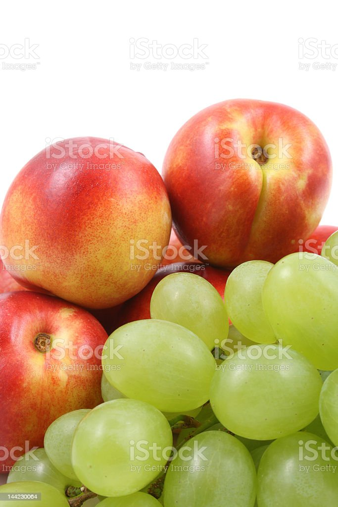 green grapes and nectarines royalty-free stock photo