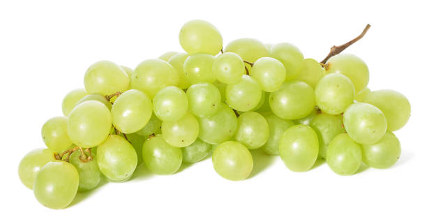 Green grapes bunch Grapes isolated on white background medium group of objects stock pictures, royalty-free photos & images