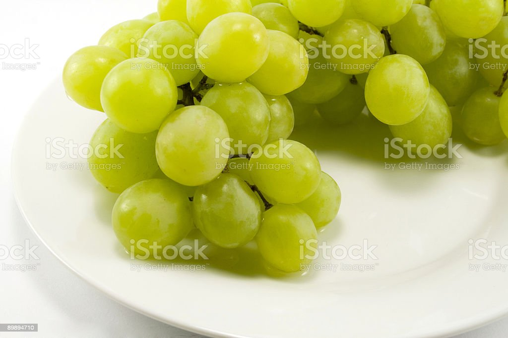 green grapes on a plate royalty-free stock photo