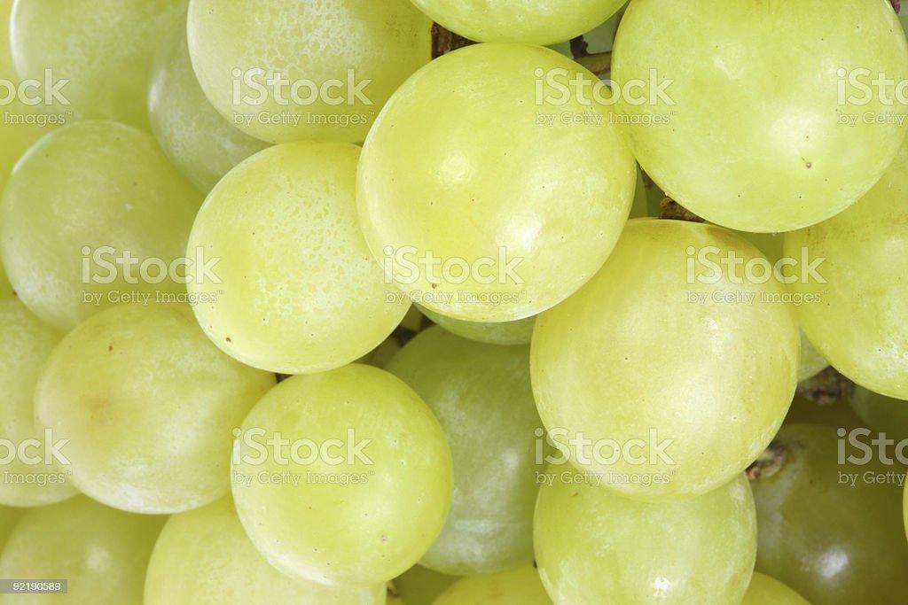 Green grapes. royalty-free stock photo