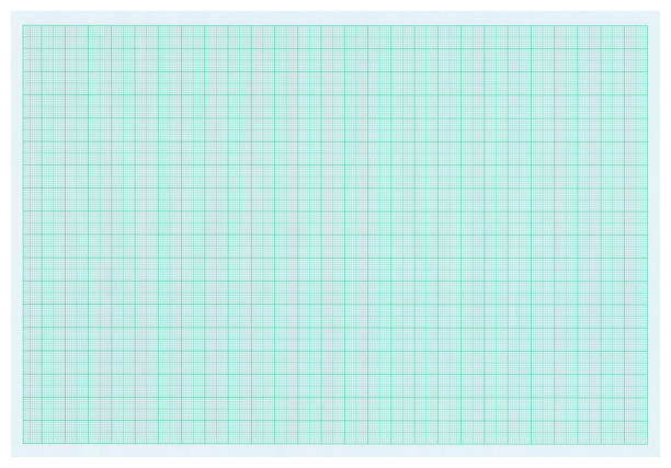 Green graph paper - isolated stock photo