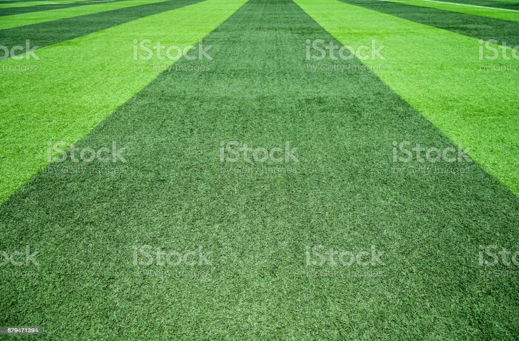 Green grass background with stripe stock photo