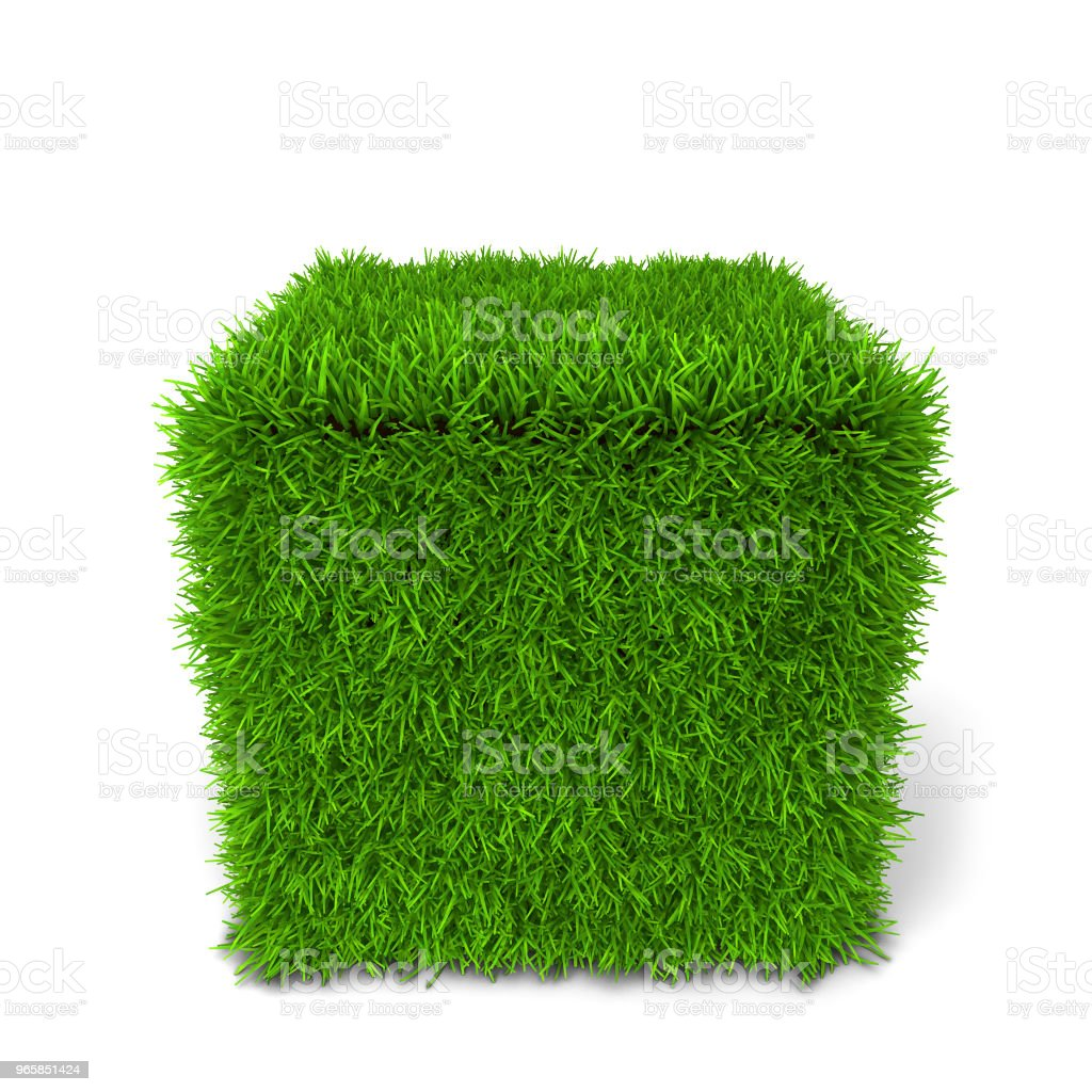 Green grass cube - Royalty-free Agricultural Field Stock Photo