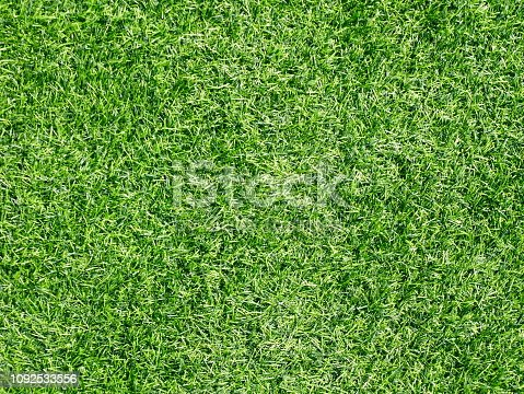 474672896 istock photo Green grass football pitch 1092533556
